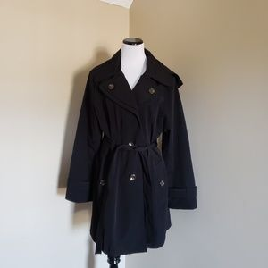 London Fog Tower hooded trench coat